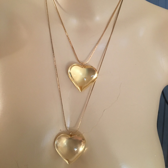 Vintage jewelry chunky lucite puffy heart pendant necklace poshmark chunky vintage lucite puffy heart pendant necklace aloadofball Gallery